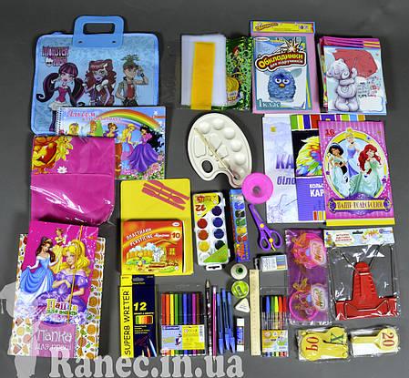 Набор первоклассника «Стандарт люкс» для девочек подарок выпускнику детского сада, фото 2