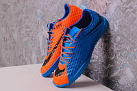 Футбольные сороконожки Nike HyperVenom Phelon TF Royal Blue/Black/Hyper Orange, фото 1