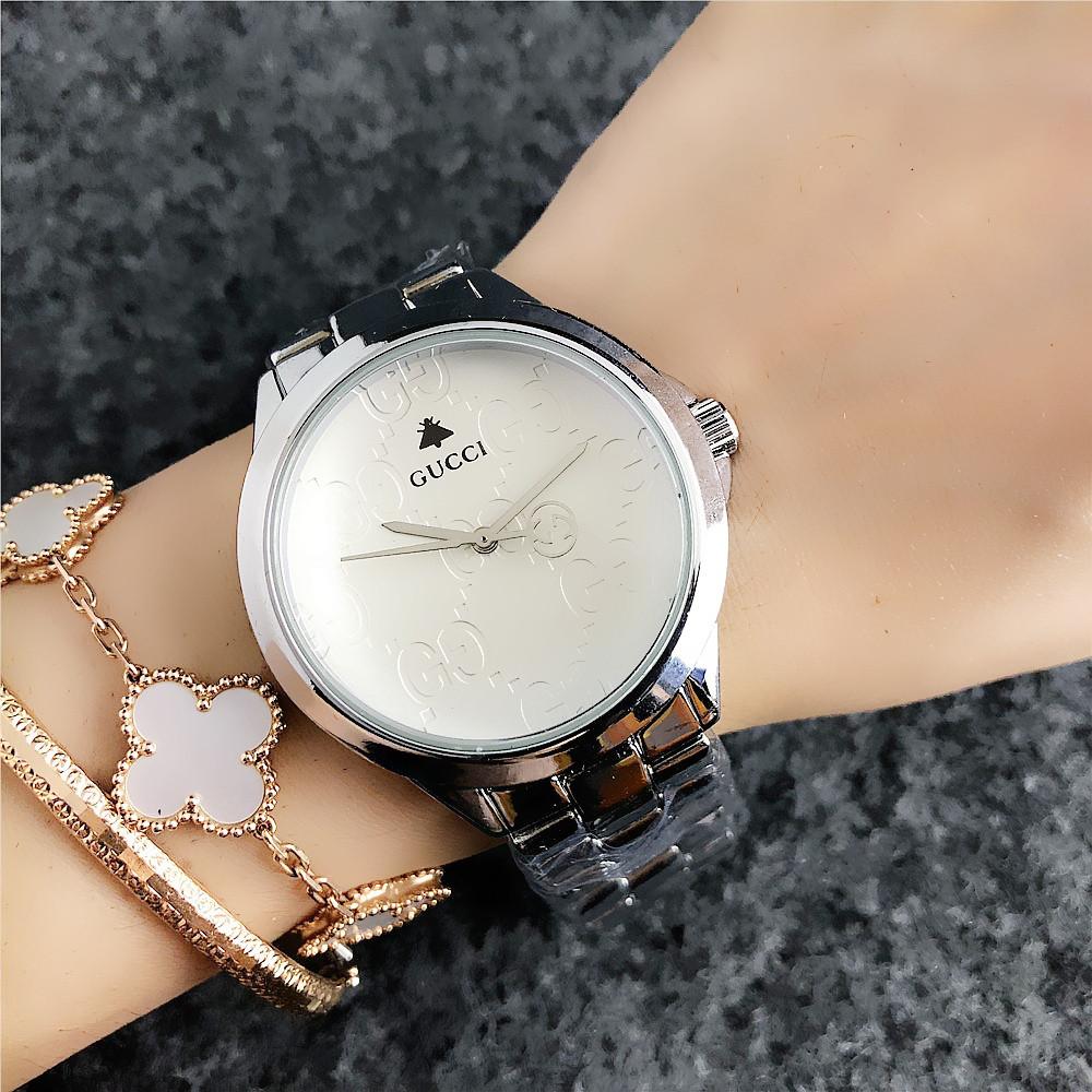 Металлические Часы Gucci Silver/Gold