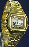 Мужские часы CASIO A159W Gold