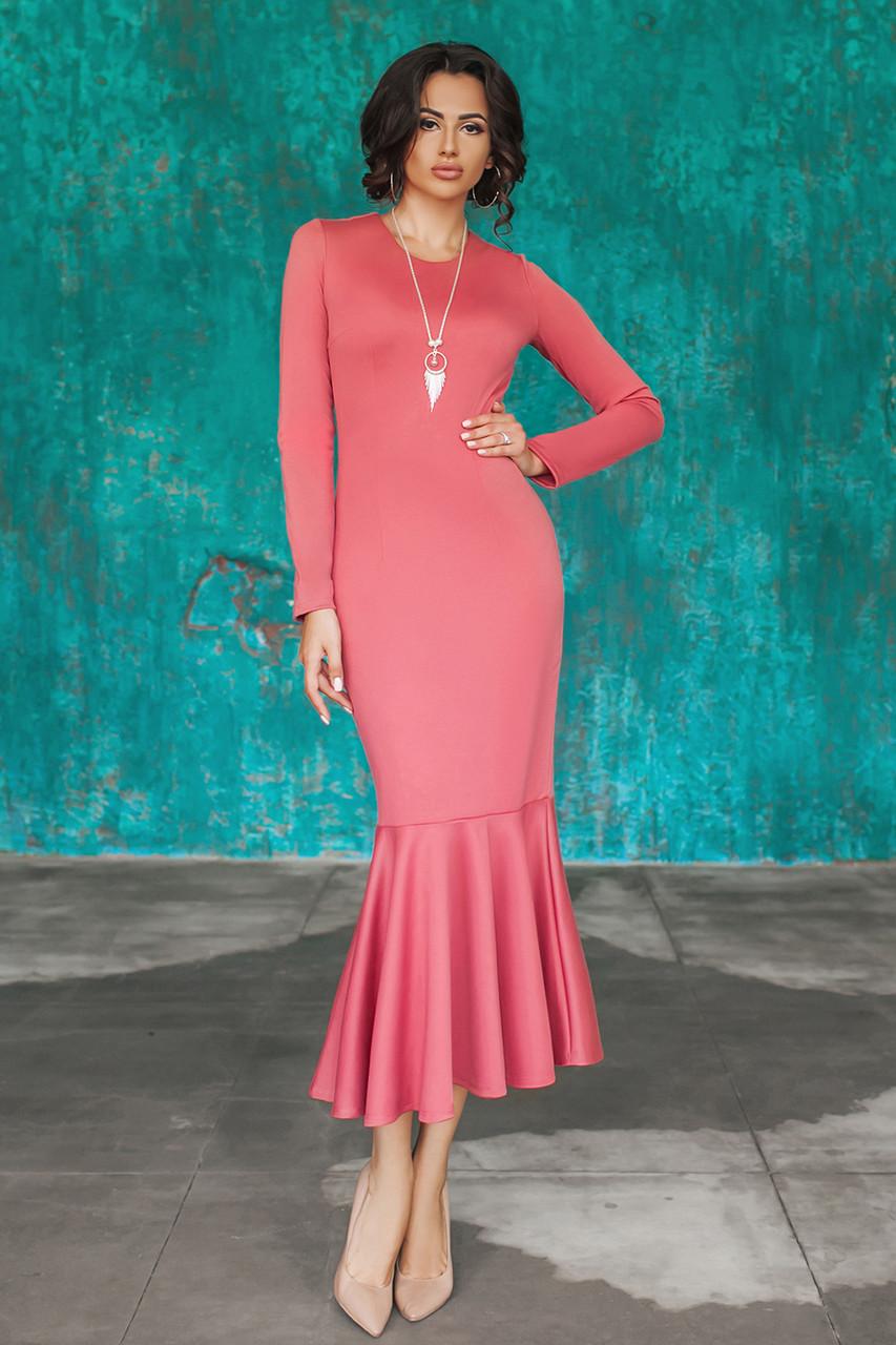 Трикотажное Платье Илэрия цвета розы