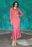 Трикотажное Платье Илэрия цвета розы, фото 1