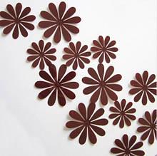 Набір коричневих квіточок - 12шт.
