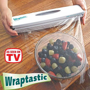 Диспенсер Wraptastic для хранения и разрезания пищевой пленки, фольги, бумаги, фото 2