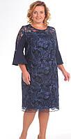 Платье Pretty-733/1 белорусский трикотаж, синий, 66