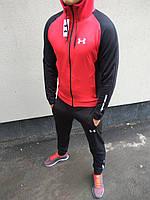 Спортивный костюм мужской красный черный Under Armour новинка 2018 Андер Армор