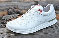 Кроссовки женские натуральная кожа легкие качественные практичные белые (Код: Т721а)