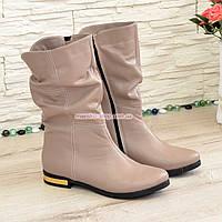 Ботинки кожаные демисезонные на низком ходу, цвет визон, фото 1