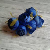 Піони з тичинками 4-4,5см, сині