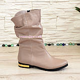 Ботинки кожаные зимние на низком ходу, цвет визон, фото 2