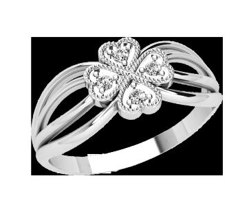 Кольцо  женское серебряное Гармония 21230