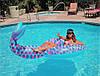 Пляжный Надувной Круг Хвост Русалки для Плавания и Отдыха Матрас в Виде Русалки, фото 7