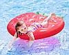 Пляжный Надувной Матрас для Плавания и Отдыха Клубника 156 х 145 см Лежак в Виде Клубнички, фото 7