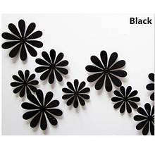Набір чорних квіточок - 12шт.