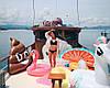 Пляжный Надувной Матрас для Плавания и Отдыха Эмодзи Какашка 165 х 150 см Лежак в Виде Какахи, фото 8