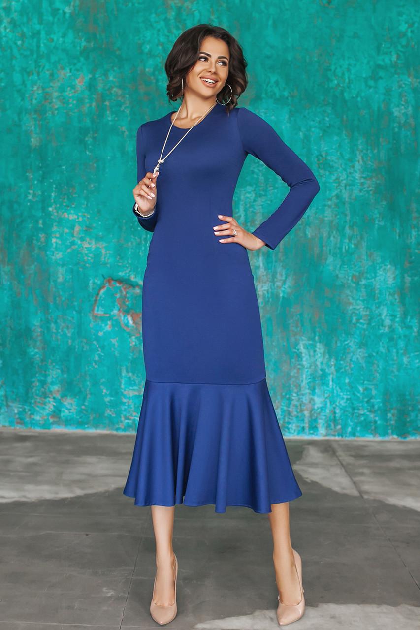 Трикотажное синее Платье Илэрия