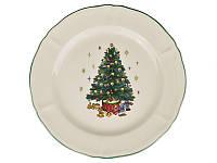 "Тарелка обеденная ""Новогодняя елка"" 27 см 910-130. Новогодняя посуда"