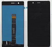 Дисплей (экран) для Nokia 3 TA-1020/Dual Sim TA-1032) + тачскрин, черный, оригинал