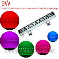 Led  линейный  светильник для архитектурной подсветки HZ-003  9W RGB 220V IP65, фото 3