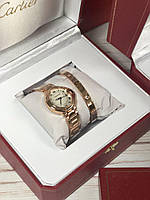 Элегантные наручные часы Cartier Ballon Bleu с браслетом (реплика), фото 1