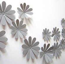 Набір сірих квіточок - 12шт.