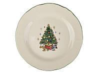 """Набор из 2 закусочных тарелок """"Новогодняя елка"""" 21 см 910-131-2"""