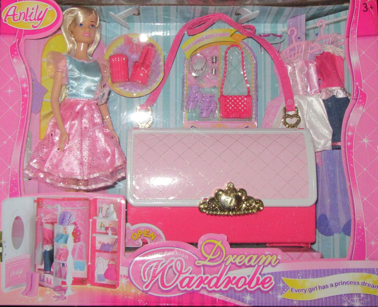 Кукла с платьями и шкафом-сумочкой: продажа, цена в ...