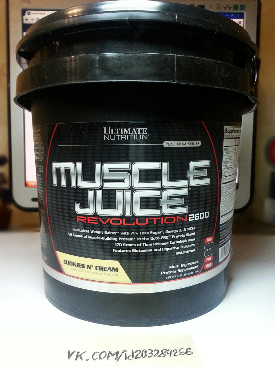 Ultimate Nutrition Muscle Juice 2600 Revolution 5.04кг