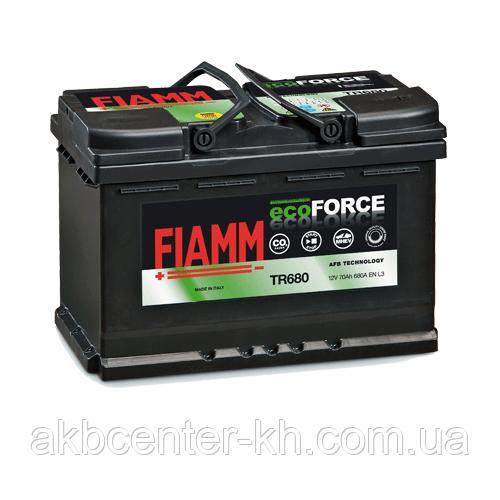 Автомобильный аккумулятор FIAMM Ecoforce AFB 6СТ-70Аз 680А R