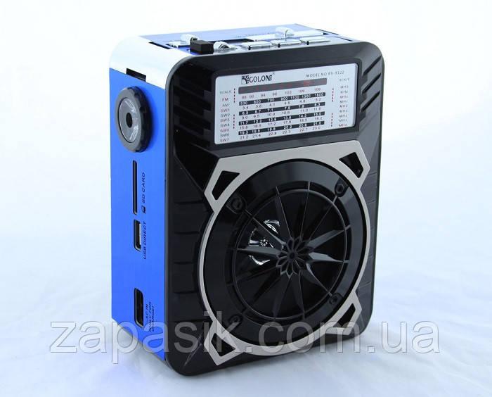 Радиоприемник Golon RX-9122 c Фонариком MP3 USB FM SD