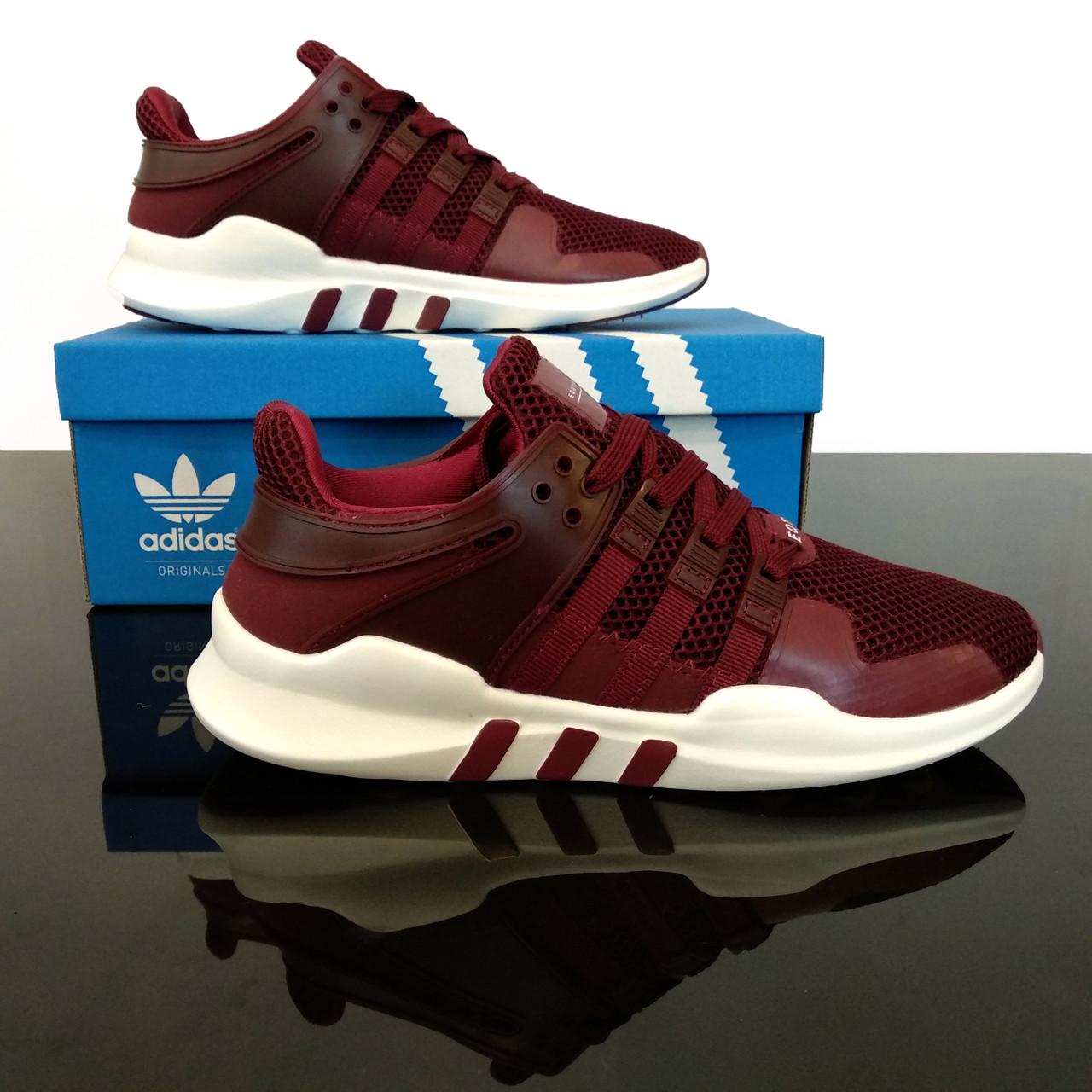 Женские кроссовки  Adidas EQT Support ADV Bordo
