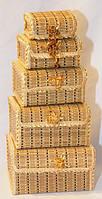 Набор шкатулок из бамбука 5 шт.