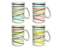 Чашка с ручкой фарфоровая «Серпантин 2» 330 мл Elina 3239