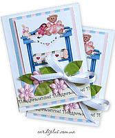 Подарочный блокнотик визитка ручной работы