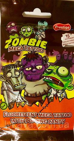 Шипучая карамель Zombie Mega Tattoo, 1 гр , фото 2
