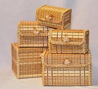 Набор шкатулок бамбуковых из 5 шт.
