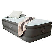 Односпальная надувная кровать Intex 64472 (191 х 99 х 46 см.) со встроенным насосом