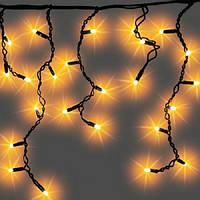 Светодиодная Гирлянда Бахрома 3 х 0,5 м Крупные Лампочки LED 0,3 см Цвета в Ассортименте