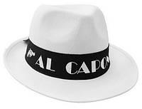 """Шляпа """"Аль Капоне"""" белая"""