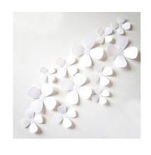 Декор білі квіточки - в наборі 12шт.
