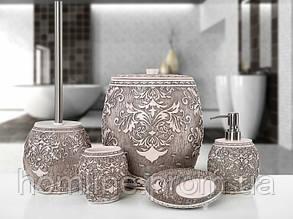 Комплект в ванную Irya Adore pembe розовый (5 предметов)