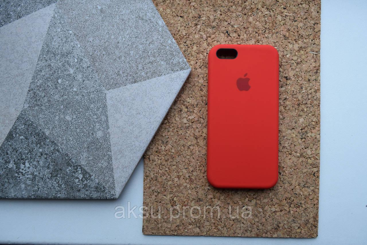 Чехол для iPhone 5 / 5s / SE Silicone Case Red