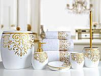 Комплект в ванную Irya Flossy beyaz белый (5 предметов)