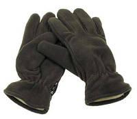 Флисовые перчатки зимние MFH олива с утеплителем Thinsulate олива 15403B, фото 1