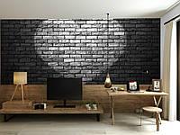 """3D фотообои """"Сердце на кирпичной стене"""""""