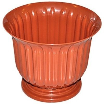 Пластиковый горшок для цветов терракотового цвета круглый 31 ММ-Пласт