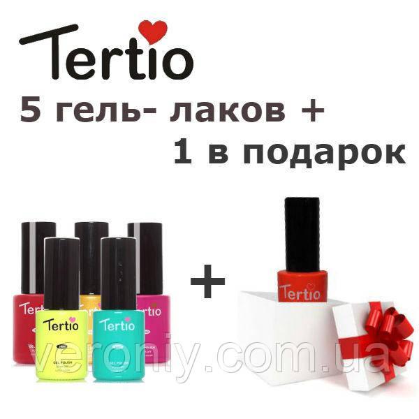 Набор гель-лаков Tertio 5 + 1
