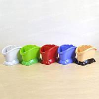Овальная подставка для столовых приборов пластиковая 21x12x12,5 см Магия-Пласт DS 770106