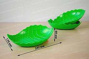 Блюдце пластиковое фигурное «Листочек» 24x17x6 см Магия-Пласт DS 880102