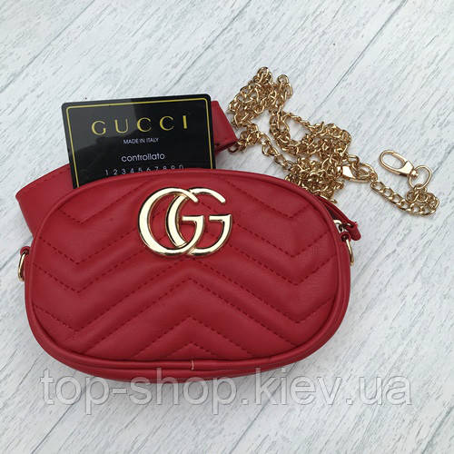 73b8dc58 сумка на пояс Gucci гуччи красная продажа цена в киеве